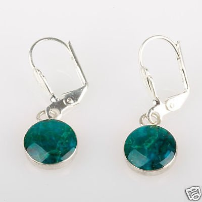 Fashion sterling silver 925 earrings of Eilat stone Israel ! Gift Jewelry & Love