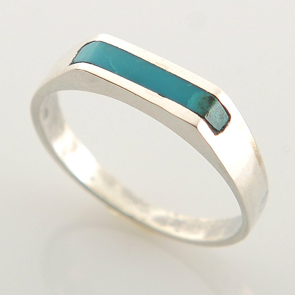 Fashion silver 925 ring & Eilat king solomon stone size 9 ! Gift Jewelry & Love