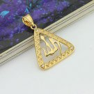 24k gold plated triangle allah islam pendant & necklace ! Gift Jewelry & Love