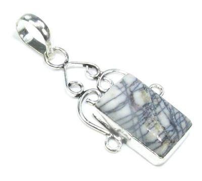 Jasper stone silver 925 pendant + sterling 925 necklace ! Gift Jewelry & Love