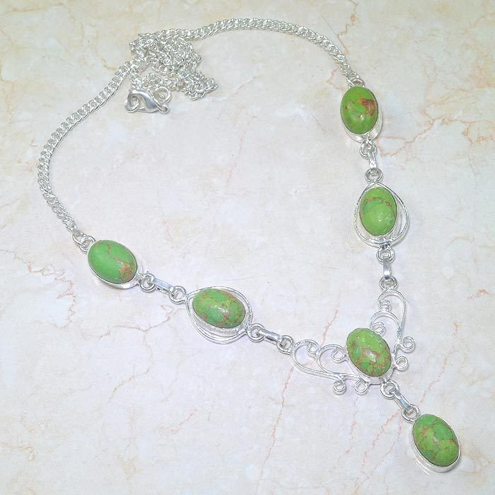 Special fashion Turquoise stones & silver 925 necklace ! Gift Jewelry & Love