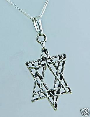 Silver 925 star of David pendant & sterling chain ! Gift Jewelry & Love