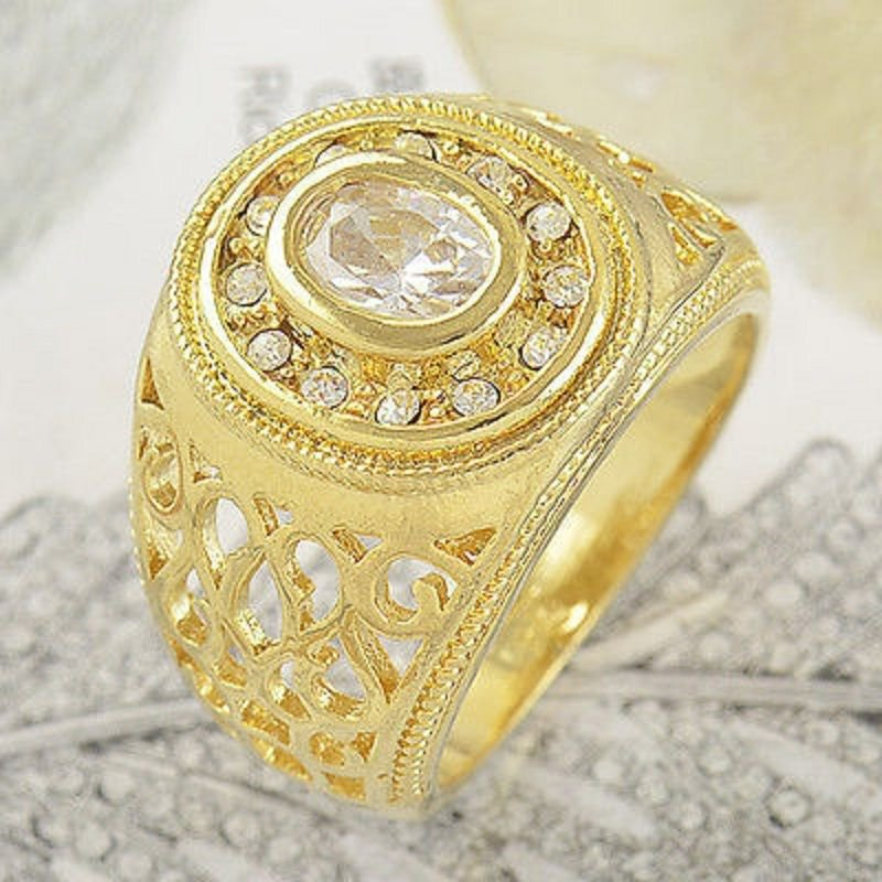Fashion design real 9k gold filled cubic zircon ring size 11 ! Gift & Jewelry