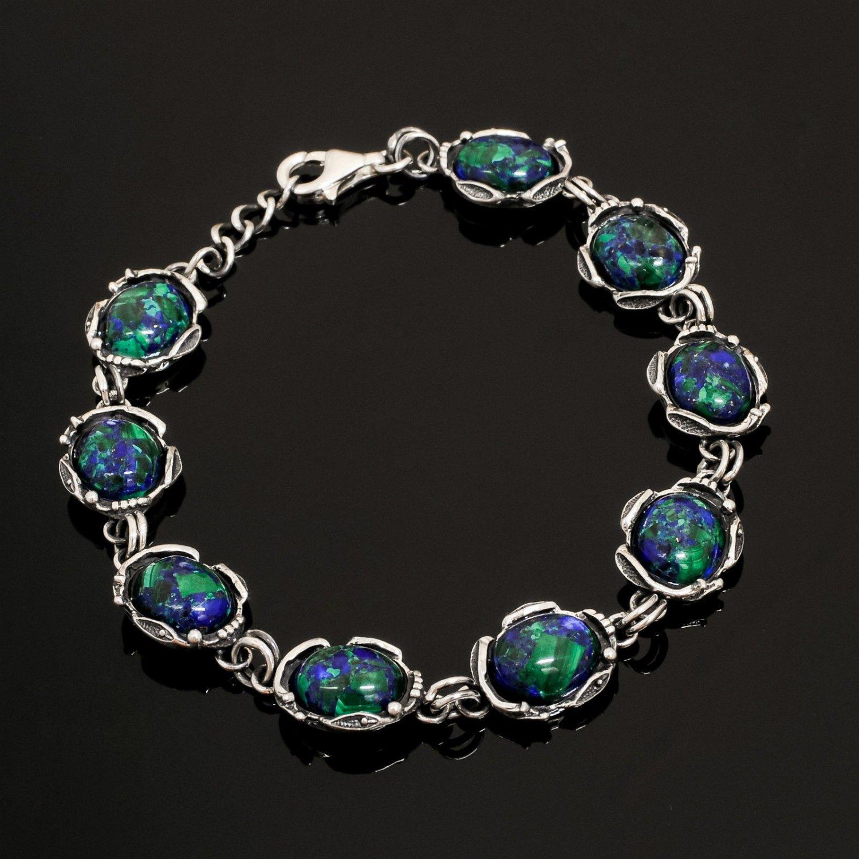 Fashion design sterling silver 925 bracelet eilat stone for Baby jewelry near me