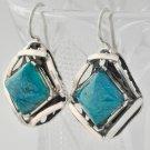 Fashion silver earrings set natural Eilat king solomon stone ! vintage jewelry