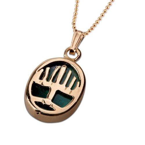 Candelabrum Eilat stone pendant 14k gold + 14K necklace ! high quality jewelry