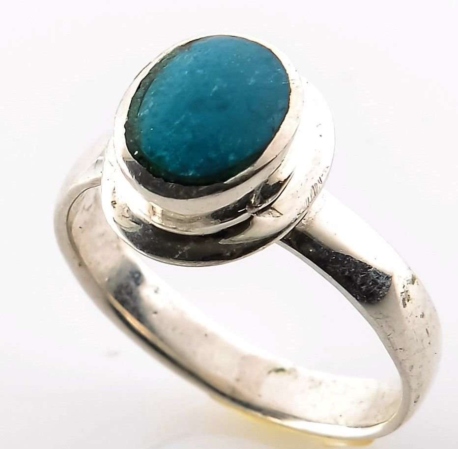 Sterling silver 925 ring & Eilat king solomon stone size 6.5 ! Gift & Jewelry