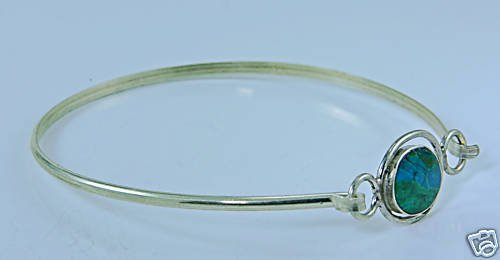 Silver 925 bracelet with Eilat Stone Israel - sterling ! Woman & Man gifts