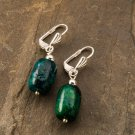 Fashion silver 925 earrings set natural Eilat stone Israel ! Gift Jewelry & Love