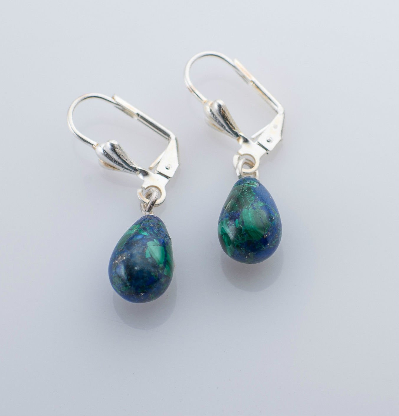 Sterling silver 925 earrings & natural Eilat stone Israel ! Gift Jewelry & Love