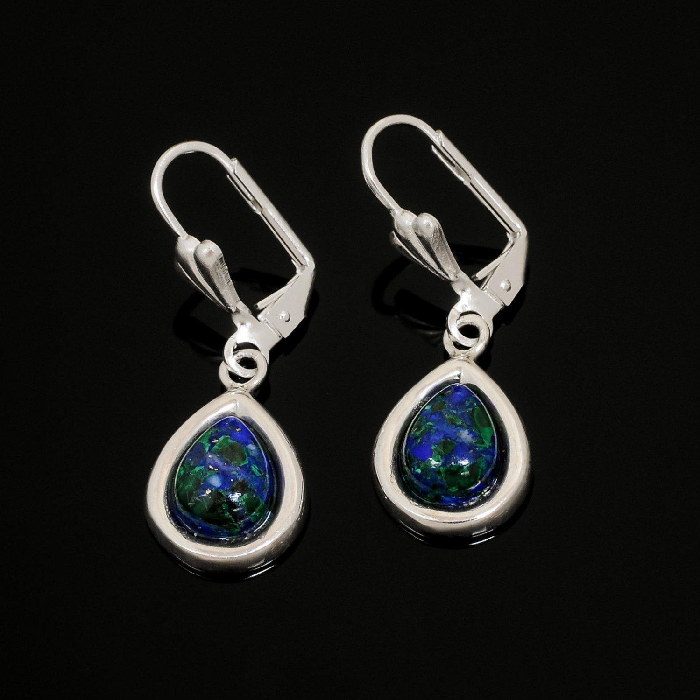 Fashion sterling silver 925 earrings & Eilat stone Israel ! Gift Jewelry & Love
