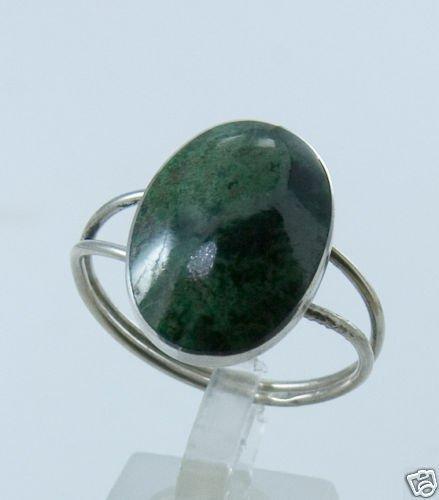 Silver 925 ring set Eilat king solomon stone - size 10 - ! Gift Jewelry & love
