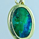 special Eilat stone Israel & 14k yellow gold pendant ! high quality jewelry