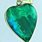 Special heart , Eilat stone & 14k yellow gold pendant ! high quality jewelry
