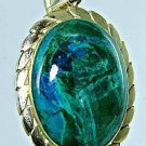 Vintage Eilat stone Israel & 14k yellow gold pendant ! high quality jewelry