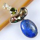 Silver 925 necklace & pendant set Lapis Lazuli gemstone ! Gift Jewelry & Love