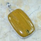 Natural pretty silver set ocean Jasper pendant + necklace ! Gift Jewelry & Love