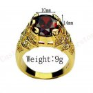 Fine fashion 10kt gold filled red ruby man woman ring size 12 ! Gift & Jewelry