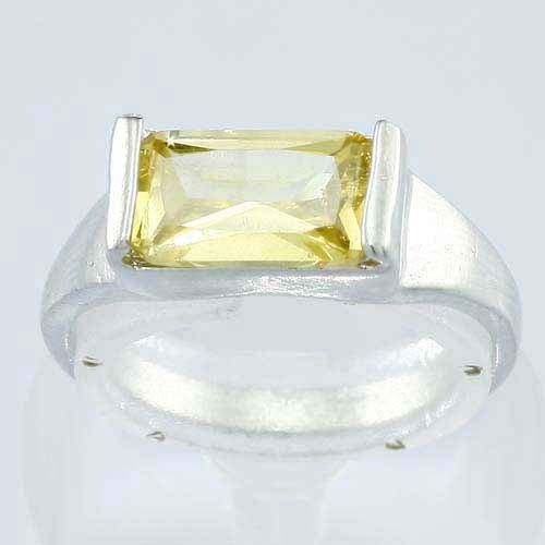 Fashion 18K gold plated ring - Citrine accent zircon ! Gift Jewelry & Love