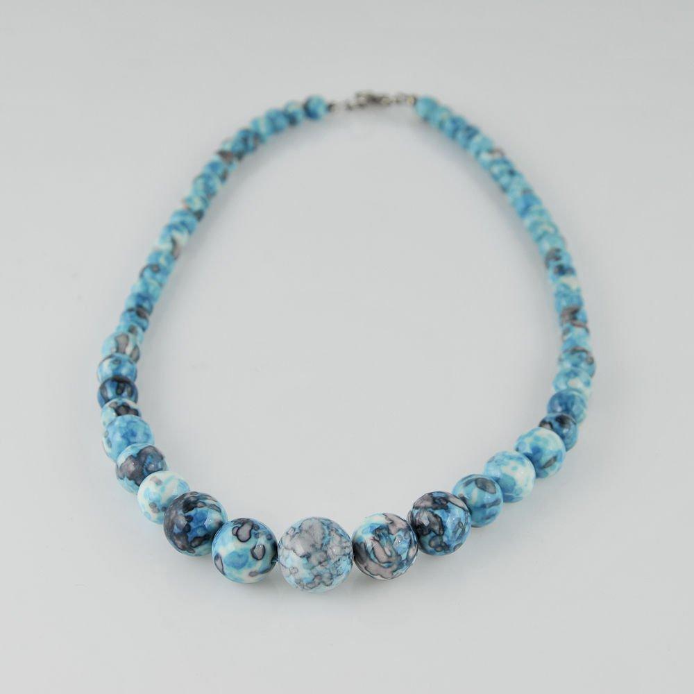 "Special 18"" ocean jasper gemstone lady beaded necklace ! Gift Jewelry & Love"