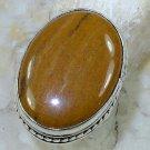 Elegant Fashion retro design Jasper silver ring size 7 1/2 ! Gift Jewelry & Love