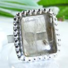 Style beautiful white Quartz silver ring size 7 1/4 ! Gift Jewelry & Love