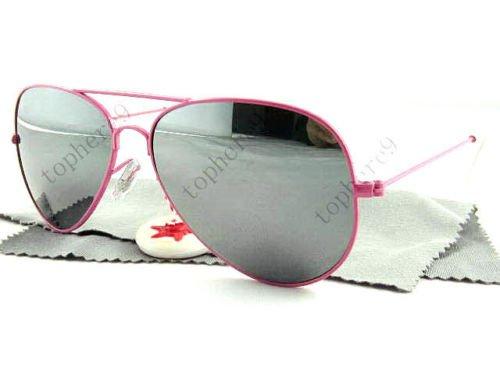Fashion New Pink Frame Retro Unisex Aviator Sunglasses ! Gift Jewelry & Love