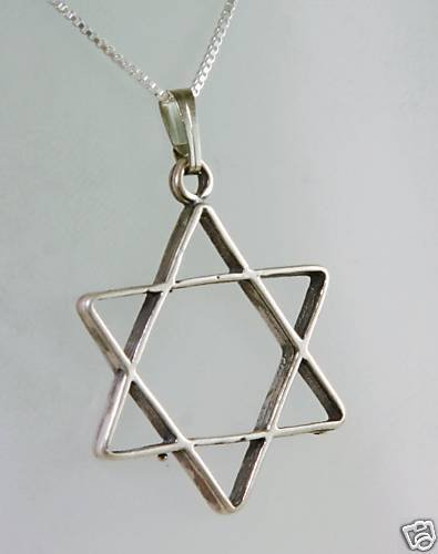 sterling 925 star of David pendant & silver necklace ! Gift Jewelry & Love