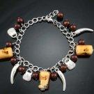Fashion stylish brown bracelet with stone & beads ! Woman & Man gifts