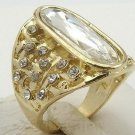 Fine fashion 10k gold filled white sapphire unisex ring size 10 ! Gift & Jewelry