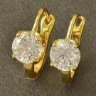 Fashion design 9K gold filled set zircon hoop earring ! Gift Jewelry & Love