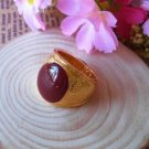 Fashion 10k gold filled red gemstone unisex ring size 7 ! Gift & Jewelry