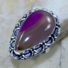 Fashion botswana agate silver woman retro ring size 7 3/4 ! Gift Jewelry & Love