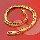 Beautiful 7.68 inch 0.24 width 18K GP yellow Bracelet ! Woman & Man gifts