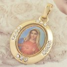 9K Gold Filled Blessed Virgin Mary Design Pendant & Necklace ! Gift & Jewelry