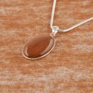 Fashion silver necklace set golden sand gemstone pendant ! Gift Jewelry & Love