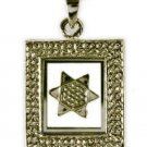 Silver necklace & pendant of spinning star of David ! Gift Jewelry & Love