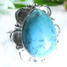 Beautiful fashion Turquoise silver 925 ring size 7 1/2 ! Gift Jewelry and Love