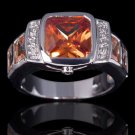 Fashion 10k gold filled woman man champagne topaz ring size 9 ! Gift & Jewelry