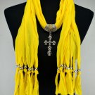 Scarf Shawl Skull Cross Pendant Necklace ! Gift Jewelry & Fashion Accessories