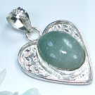 Aventurine silver 925 pendant + sterling necklace ! Gift Jewelry & Love