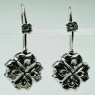 Pretty fashion dangle silver earrings - flower design ! Gift Jewelry & Love