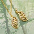 18K Gold Plated Multicolor Swarovski Pendant Necklace ! Gift Jewelry & Love
