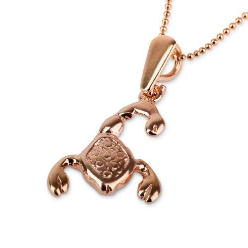 Gold Scorpio pendant + 14k chain , Astrology Horoscope ! Gift Jewelry & Love