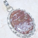 Fashion Jasper pendant & sterling silver 925 necklace ! Gift Jewelry & Love
