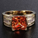 Fine fashion 10k real gold filled set Topaz unisex ring size 11 ! Gift & Jewelry