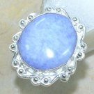 Fine fashion natural Drusy Agate silver ring size 7 3/4 ! Gift Jewelry & Love
