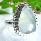 Beautiful fashion Prehnite silver 925 ring size 7 7/8 ! Gift Jewelry and Love