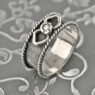 Special fashion sterling 925 ring size 8 ! unique design ! Gift Jewelry & Love
