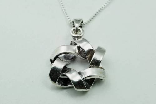 Silver 925 star of David pendant & sterling necklace ! Gift Jewelry & Love